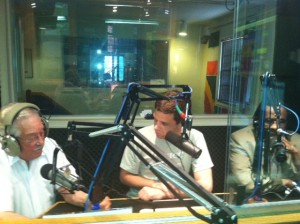 In the WUST studio, from left to right: Stanley Tapscott, Pete Tucker, Tony Norman